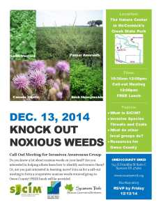 Knock Out Noxious Weeds 20141213